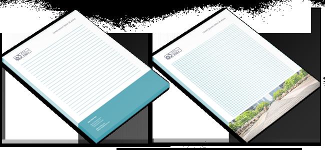 Blocs-de-notas personalizados por la Imprenta online de lunes a domingo 24/7-blocs de notas