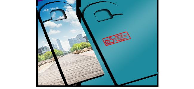 Colgadores de puerta personalizados por la Imprenta online de lunes a domingo 24/7-colgadores-de-puerta