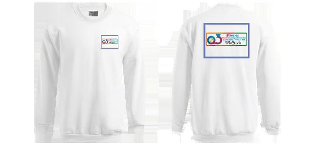 Suéteres personalizados por la Imprenta online de lunes a domingo 24/7-suéteres