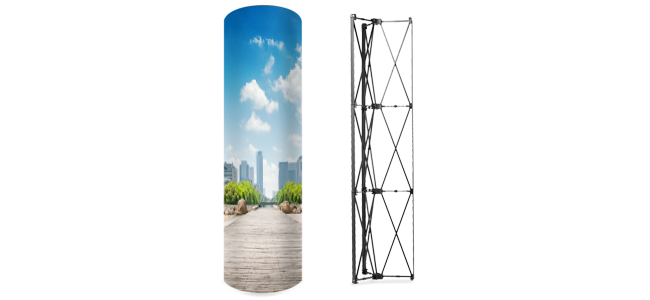 Tower pop-up personalizados por la Imprenta online de lunes a domingo 24/7-tower-pop-up